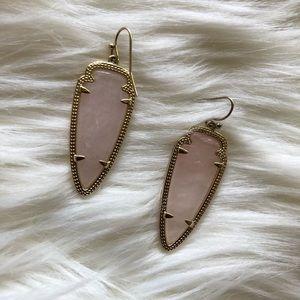 Kendra Scott Rose Quartz Sky Earrings